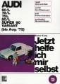Audi 60/L - 72/L - 75/L - 80/L - Super 90 Variant bis August 1972